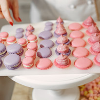 Purple and Pink Macarons