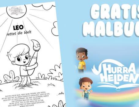 Hurra Helden: Kostenloses, personalisiertes Malbuch