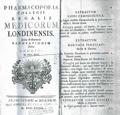 12. Pharmacopoeia Londinensis 1746, Extr