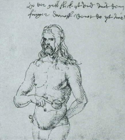 6A. Dürer orvosának küldött rajza. A fáj