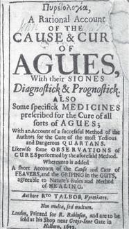 11. Talbor, R. Pyretologia 1672.jpg