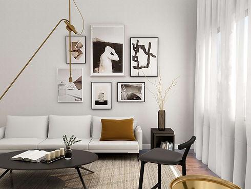 Wohnzimmer-Design mit Bildergalerie