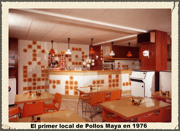 Local de Pollos Maya en 1976 de Salou