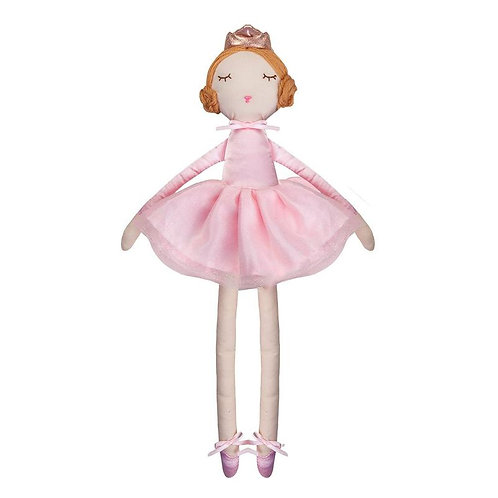 Great Pretenders Bella the Ballerina Doll with reddish hair, pink crown, dress and ballet slipprs