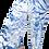 Wrap style pant-mid-calf-length-laced on abdomen-blue & white tie-dye