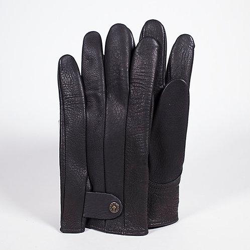 Pair of Men's Deerskin supple looking Leather Gloves, black