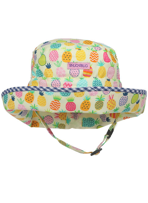 Snug as a Bug Pineapple Picnic Adjustable Sun Hat front view