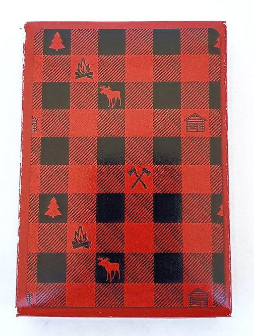 Tree-Free Greetings Lumberjack Plaid Playing Cards front