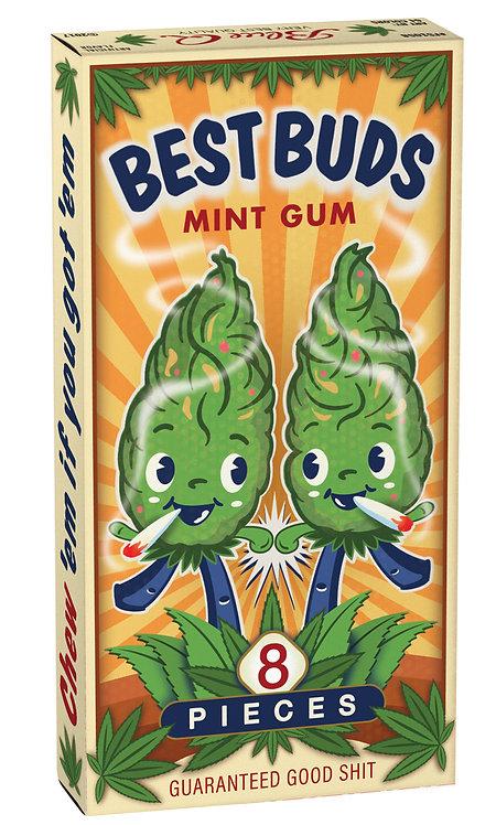 Blue Q Best Buds Gum box of 8 with hemp buds smoking
