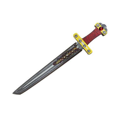 Black, red, yellow & metallic gray foam Ninja Sword