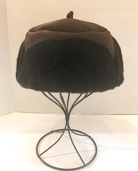 Yukon Sheepskin Hat - Brown