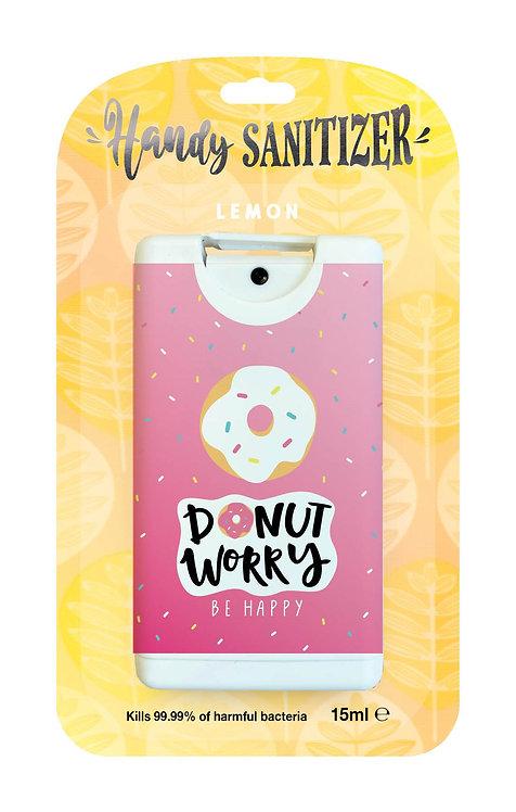 Yellow rectangular hand sanitizer packet - Donut Worry