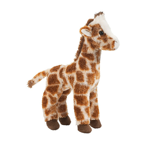 Douglas Toys Ginger Giraffe plush stuffed toy - red-brown & white
