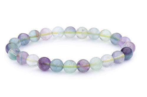 Fluorite stone bead bracelet