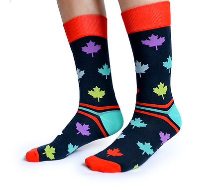 Uptown Socks Canada in Colour Socks side view