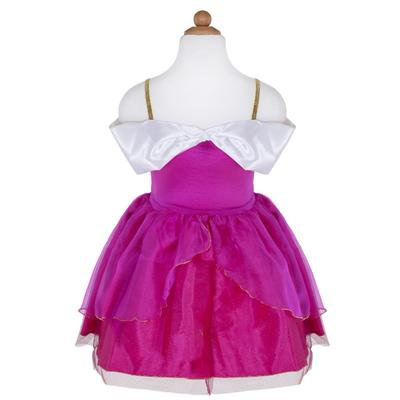 front view of pink and white dress-up dress
