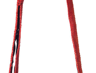 Rainbow tie-dye hemp purse with long shoulder strap, front zip pocket