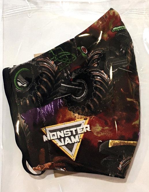 Monster Trucks Reusable Protective Mask