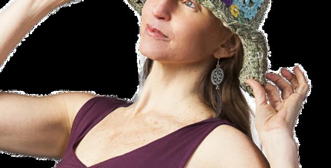 Hemp Cotton Wire Rim Flower Hat