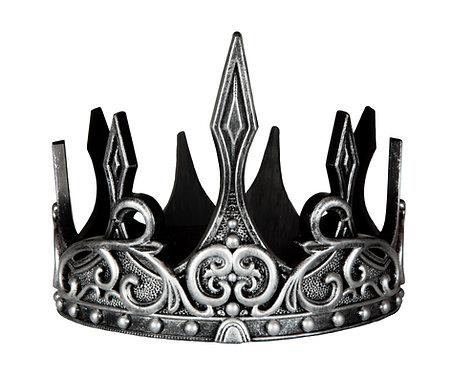 hard foam silver & black medieval crown