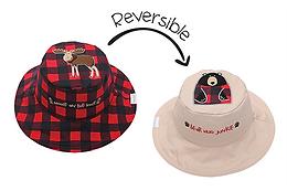 2 in 1 Moose / Black Bear Reversible Baby & Kid Sun Hat