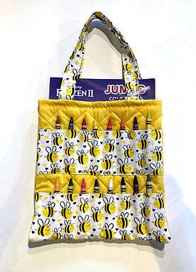 Bee Happy Crayon Activity Tote Bag