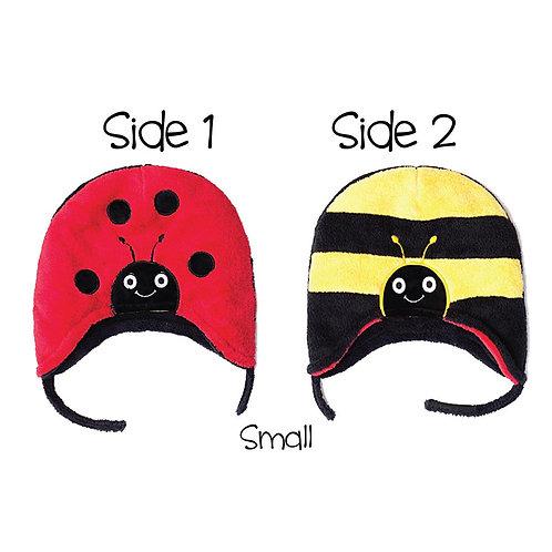 Flapjack Kids Reversible Hat Ladybug / Bumblebee