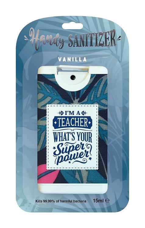 Blue rectangular hand sanitizer packet - Teacher