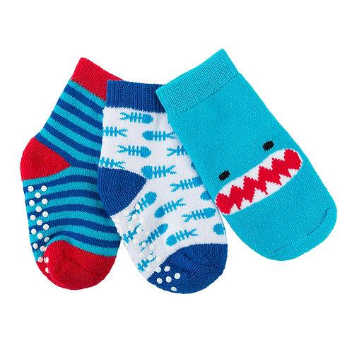 set of 3 pairs of sherman the shark themed socks