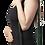 Female modeling green hemp mini purse-long adjustable detachable shoulder strap-2 zipper pockets-fold-over flap