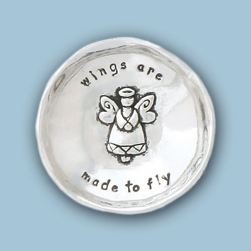 Small Pewter Charm Bowl -Angel