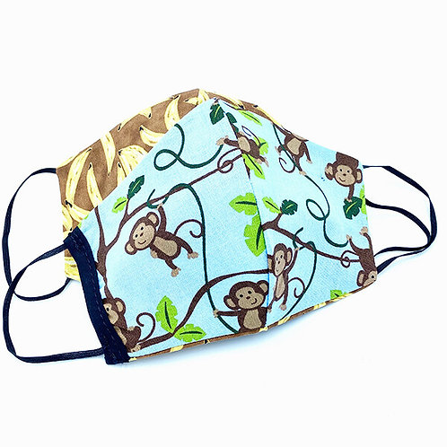 Hides in Hand Reversible & Reusable Protective Mask - Swingin' Monkeys