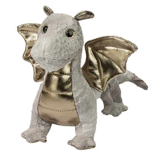 Douglas Toys Hydra Silver Baby Dragon