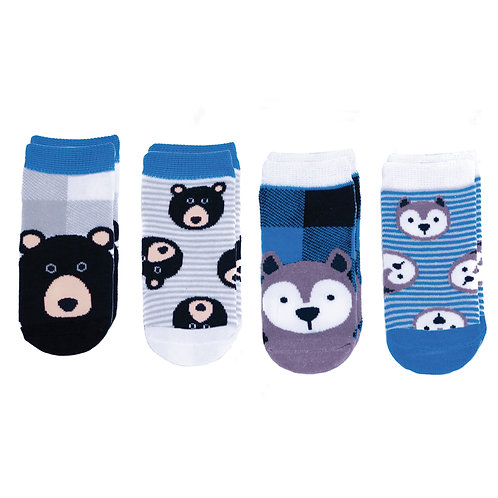 Flapjack Kids Mix & Match Socks Set - Wolf / Black Bear