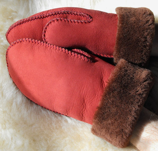 Rosso Sheepskin Mitts for Grown-ups