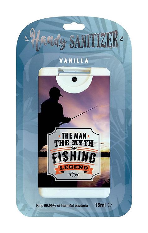 Denim blue rectangular hand sanitizer packet -Fishing