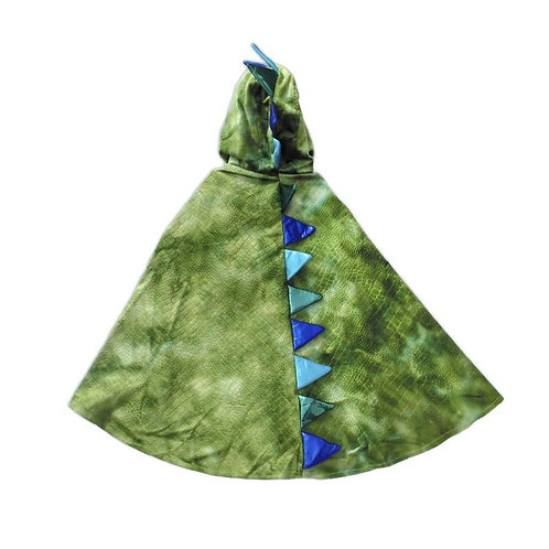 Green & blue Cape with dragon scales down the back