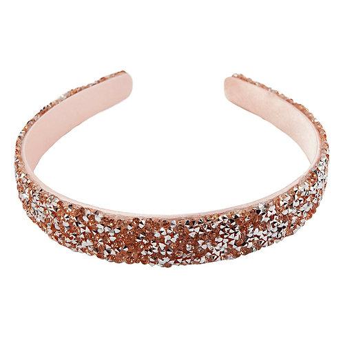 Dark pink & gold sparkly headband