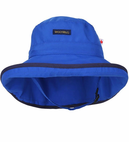 Snug as a bug Royal Blue UPF 50+ Adjustable Sun Hat front viewview