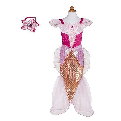 Child's  Mermaid Dress & Headband Set, pink