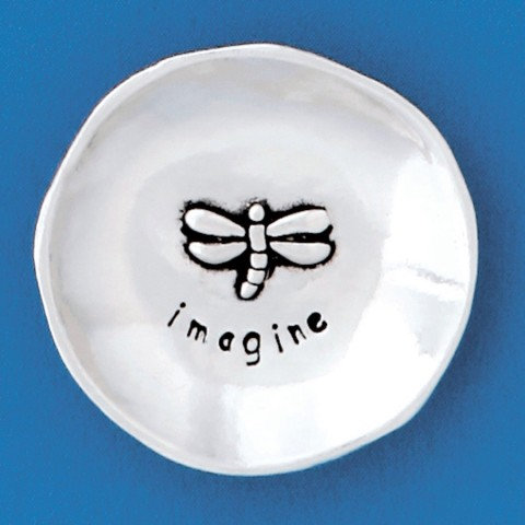 Small Pewter Charm Bowl - Dragonfly