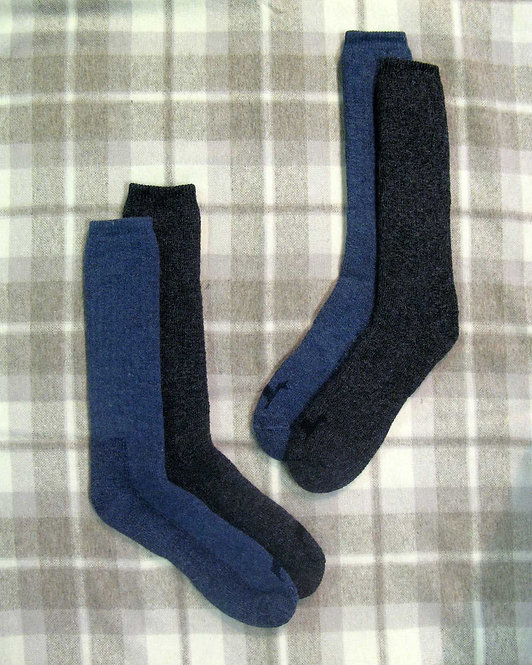 2 pairs of Alpaca wool Socks Extreme Ultimate charcoal and denim