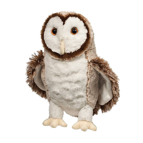 Douglas Toys Swoop Barn Owl plush stuffed toy - brown & white