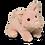 Douglas Toys Pinkie Pig stuffed animal, pink & white