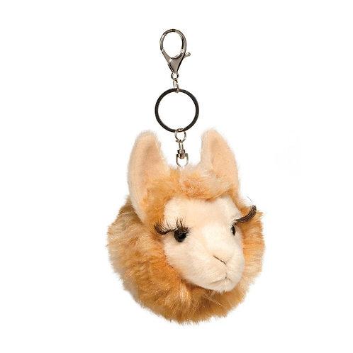 Douglas Toys Llama Fur Fuzzle Pom Clip