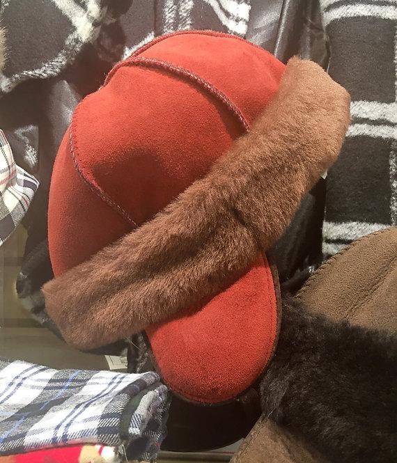 Kids' Sheepskin Hat - Rosso