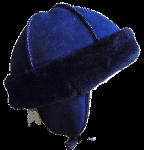 Kids' Sheepskin Hat - Navy