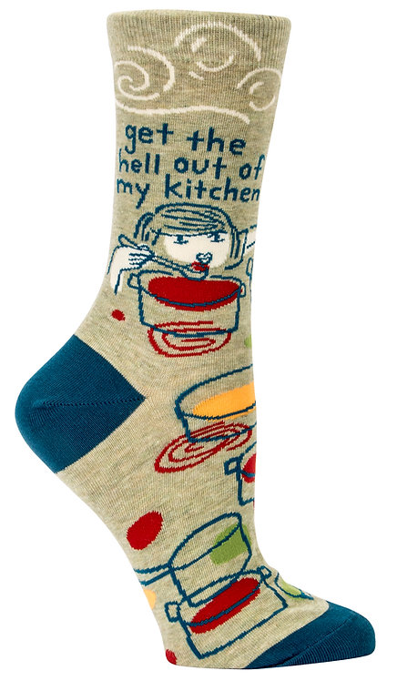 Blue Q Get Out Crew Socks right view