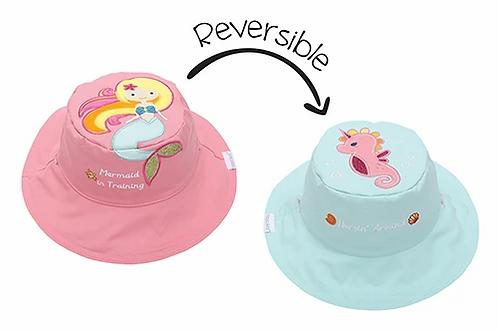 Flapjack Kids 2 in 1 Mermaid / Seahorse Reversible Baby & Kid Sun Hat