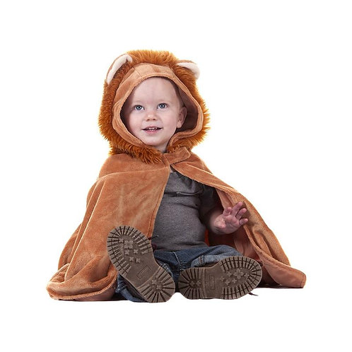 Child wearing Great Pretenders brown furry Toddler Lion Cape